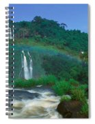 Panoramic View Of Iguazu Waterfalls Spiral Notebook
