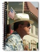 Parade Watcher Flag In Hat July 4th Prescott Arizona 2002 Spiral Notebook