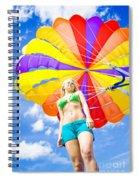 Parasailing On Summer Vacation Spiral Notebook