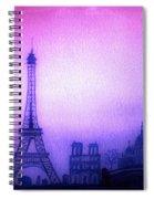 Paris Skyline Spiral Notebook