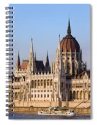 Parliament Building In Budapest Spiral Notebook