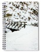 Pathway Through The Snow Spiral Notebook