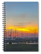 Patriots Point Sunset Spiral Notebook