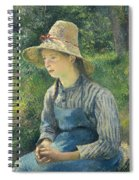Peasant Girl With A Straw Hat Spiral Notebook