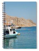 Pedi Harbour Symi Spiral Notebook