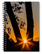 Peeking Sun Spiral Notebook