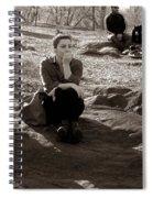 Pensive - In Central Park Spiral Notebook