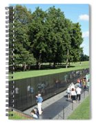 People At The Wall Spiral Notebook