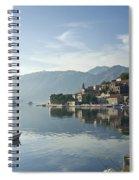 Perast Village In Montenegro Spiral Notebook