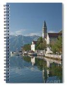 Perast Village On Kotor Bay Montenegro  Spiral Notebook