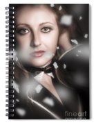 Performing Arts Woman. Romantic Stage Performance Spiral Notebook
