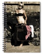 Person On A Vintage Vacation Spiral Notebook