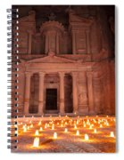 Petra By Night Spiral Notebook