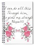 Philippians 4 13 Spiral Notebook