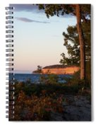 Pictured Rocks At Sunset Spiral Notebook