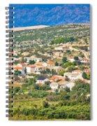 Picturesque Mediterranean Island Village Of Kolan Spiral Notebook
