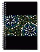 Pin-wheel Flowers Spiral Notebook