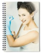 Pinup Housewife Flexing Muscles. Cleaning Strength Spiral Notebook
