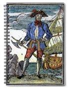 Pirate Edward England Spiral Notebook