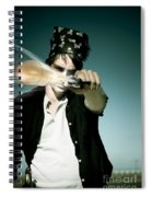 Pirate Shooing Gun Spiral Notebook