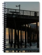 Pismo Beach Pier At Sunset, San Luis Spiral Notebook