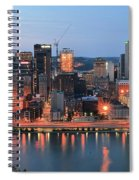 Pittsburgh At Dusk Spiral Notebook