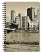 Pittsburgh In Sepia Spiral Notebook