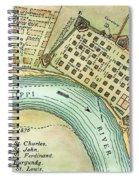 Plan Of New Orleans, 1798 Spiral Notebook