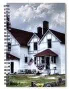Point Iroquois Lighthouse Michigan Spiral Notebook
