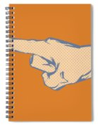 Pointing Finger Vector Spiral Notebook