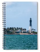 Pompano And The Hillsboro Inlet Lighthouse Spiral Notebook