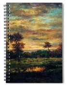 Pond At The Edge Of A Wood Spiral Notebook