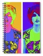 Pop Art Girl Spiral Notebook