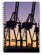 Port Of Seattle Cranes Silhouetted Spiral Notebook