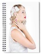 Portrait Of A Beautiful Bride Spiral Notebook
