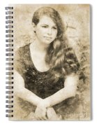 Portrait Of A Vintage Lady Spiral Notebook