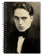 Portrait Of Charlie Chaplin Spiral Notebook