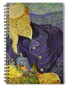 Portrait Of Doctor Gachet Spiral Notebook