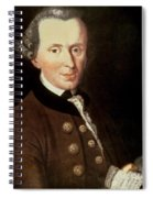 Portrait Of Emmanuel Kant Spiral Notebook