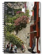 Positano Street Scene Spiral Notebook