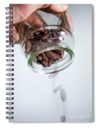 Pouring Out Pills Spiral Notebook