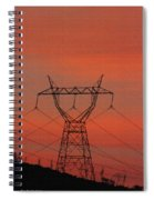 Power Lines Just After Sunset Spiral Notebook