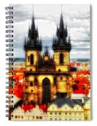 Prague Church Of Our Lady Before Tyn Spiral Notebook