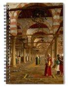 Prayer In The Mosque Spiral Notebook