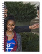 President Obama And Daughters Spiral Notebook