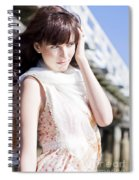 Pretty Young Fashion Model Spiral Notebook