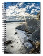 Price Lake Frozen Over During Winter Months In North Carolina Spiral Notebook