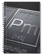 Promethium Chemical Element Spiral Notebook