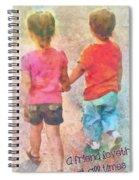 Proverbs 17 17 Spiral Notebook