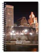 Providence Rhode Island Skyline At Night Spiral Notebook